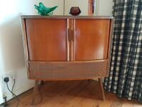 VINTAGE 1960s DECCA RADIOGRAM RECORD PLAYER BSR DECK RADIO WORKING UP-CYCLE COCKTAIL GIN BAR GC