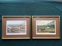 """2 x prints """" Vale of Aylesbury steeple chase """""""