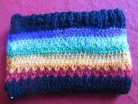 Hand knitted coin purses