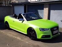 2013 (63 Reg) Audi A5 TFSI Convertible - S5 replica, not RS5, S-Line, very low mileage