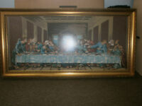 "Large framed 100% wool hand-stitched tapestry. 'The last supper'. 4' 1"" X 2'1 An exceptional piece"