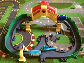 Chuggington train track and two dicast trains