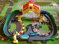 Chuggington train track and two dicast trains