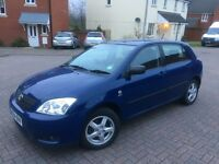Toyota Corolla T2 VVTI 1.4 16V Petrol 5 Door Low millage well looked after car