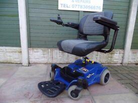 Pride Go Chair Indoor/Outdoor Power Chair in blue