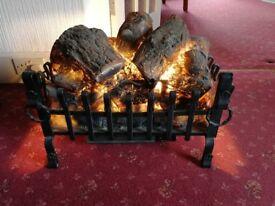 Log effect electric heater