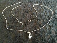 9ct white gold Fine chain necklace
