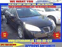 2007 Pontiac G6*APPLY NOW ALL CREDIT TYPES WWW.GETCARLOANS.CA