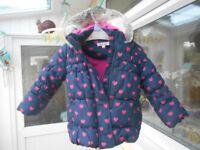 Debenhams BlueZoo coat 12-18mths