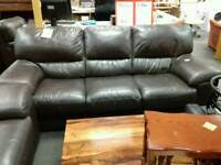 Great brown leather sofa