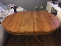 Solid wood, extendable dining table