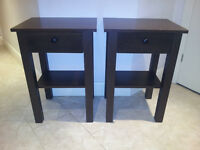 Wood Effect Pair of Side Tables