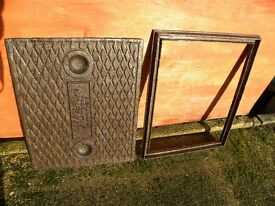 Cast Iron Manhole Cover And Frame.