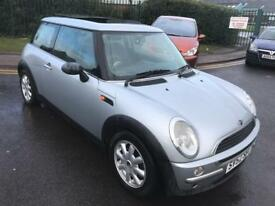 mini one 2003 52 plate 1.6 petrol panramic glass roof alloy wheels service history