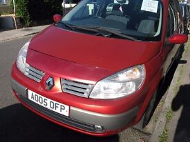 RENAULT SCENIC DYNAMIQUE FOR SALE 1.6 CC PETROL YEAR 2005