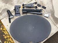 Sky Satellite Dish Brand New and Unused complete with brackets and fixings