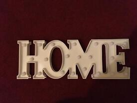 'Home' Sign