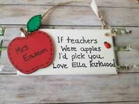 Personalised teacher gifts thank you plaque