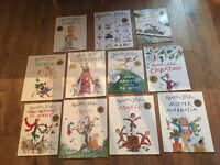 Set of 10 books by Quentin Blake in popper wallet