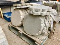 Log effect concrete stepping stones / paving slabs