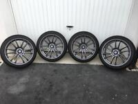 "Honda Civic Type R FN2 18"" Suzuka Alloy wheels & Tyres inc wheel bolts"