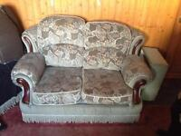 Two seater sofa plus arm chair free collection only Ludham
