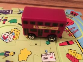 Harrods London bus on the go-puzzle