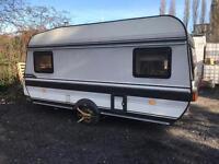 Hobby prestige 440 1990 4 5 berth touring caravan & awning