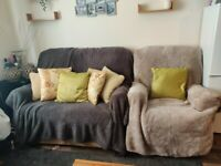 Sofa and recliner armchair