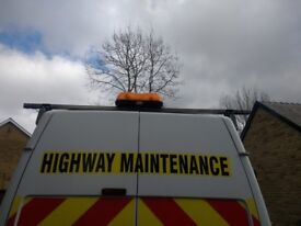 Roof Rail for transit. With flashing beacons and and all hardware. Excellent condition.