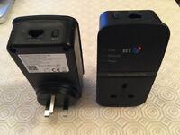 BT Flex 500 Passthrough Powerline Broadband Extenders