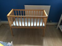 Baby cot/crib, hardly used