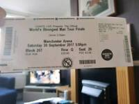 Two tickets to worlds strongest man today