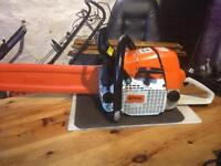 "Stihl 044 powerful, professional chainsaw with Stihl 20"" bar / new chain/scabbard."