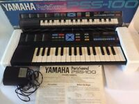 YAMAHA PORTASOUND Digital Recording Keyboard PSS-100 Boxed with power supply VG