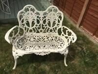 Gorgeous ornate garden bench French style