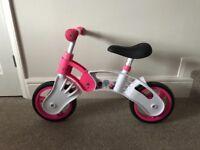 Kool Sport Balance Bike Pink & White