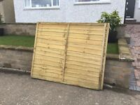 Garden Fence Overlap Panels 3no. New