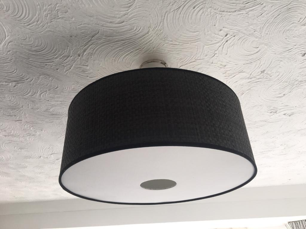 Set of two Dark grey/ Black large light shades/lamp shades. | in ...