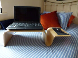 Laptop Sofa / Bed Table Light Oak Moulded Laminated Timber