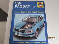 USED HAYNES WORKSHOP MANUAL V W PASSAT 1996-2000 PETROL/DIESEL