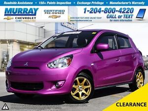 2014 Mitsubishi Mirage 4dr HB Man SE *Accident Free, Heated Mirr