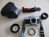 Minolta SRT100x 35mm SLR camera kit