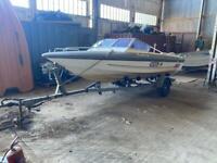 Fletcher Arrowbeau 170 speed boat and Indespension Trailer for sale.