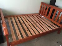 Wooden Bedframe & Mattress (If only interested in one, just ask)