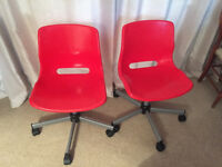 Two Snille Swivel chairs