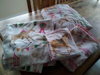 Horse Show bedding and curtains set