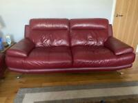 2x3 seater Italian leather sofa