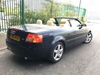 AUDI A4 CONVERTIBLE = AUTOMATIC = LOW MILEAGE = £2590 ONLY =
