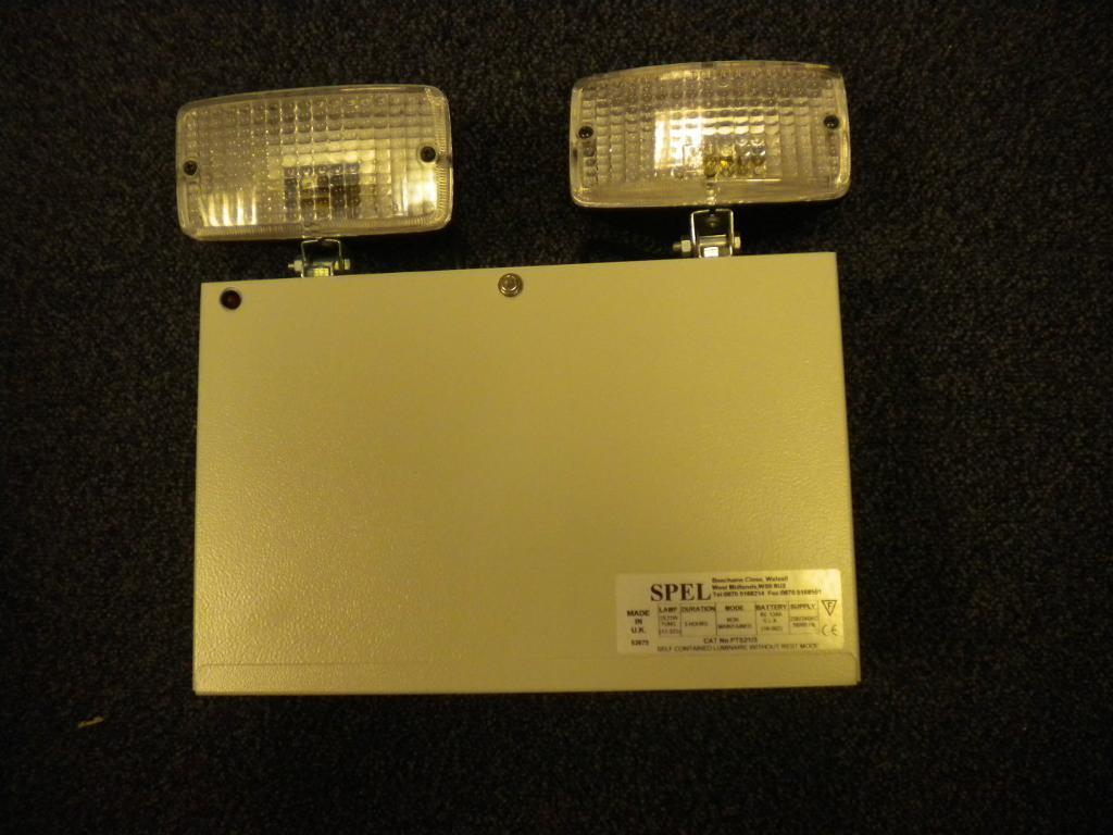Spel Twin Lamp Self Contained Emergency Luminaire